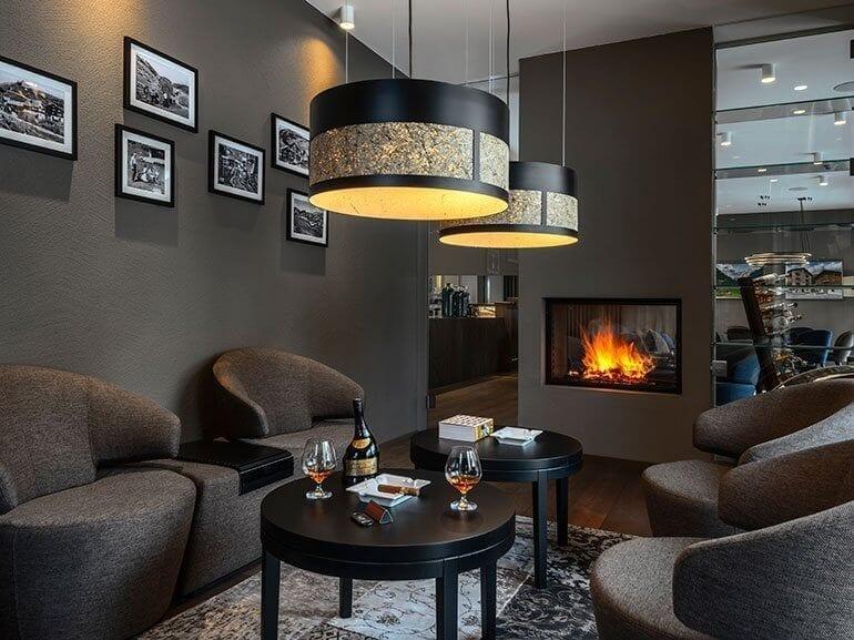 Fumoir Smoking Lounge Hotel Mischun Brigels