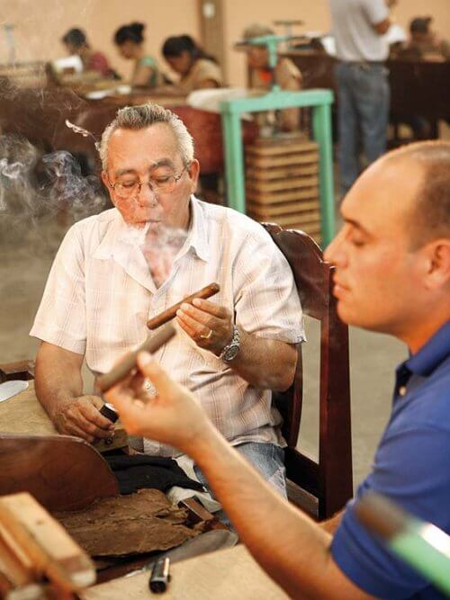Test Smoking Cigar Blends