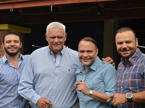 Plasencia brothers with their father Nestor Sr.