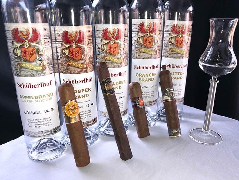 Tasting Zigarren und Schnaps