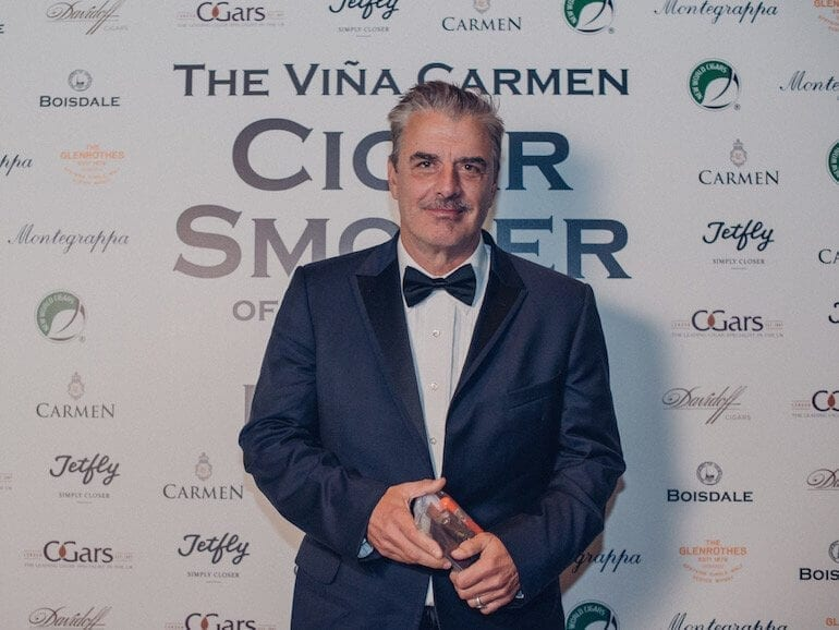 Chris Noth crowned Cigar Smoker of the year 2018