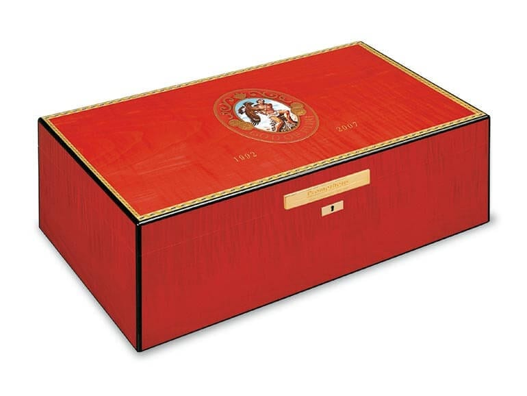 God of Fire red humidor