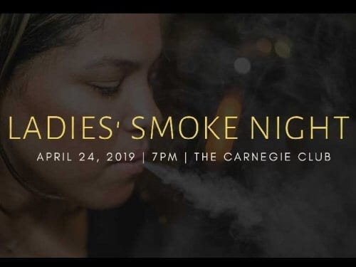 Ladie's Smoke Night The Carnegy Club