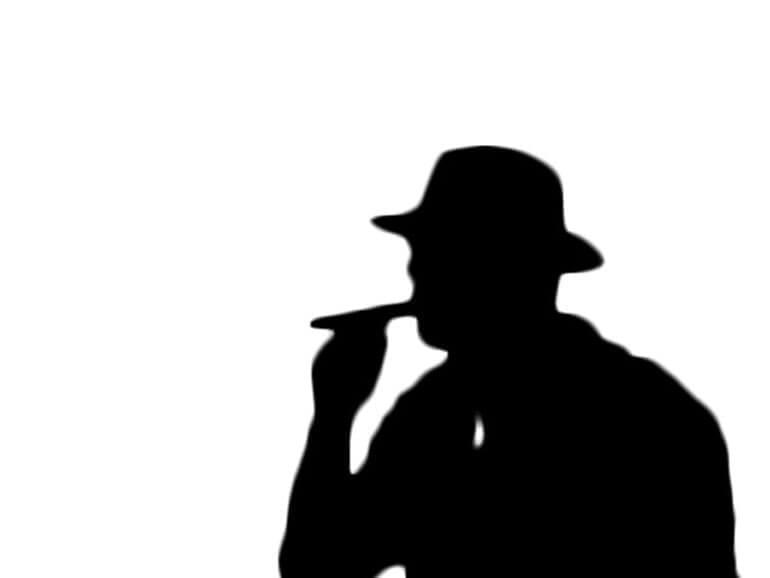 Silhouette-cigar-smoker