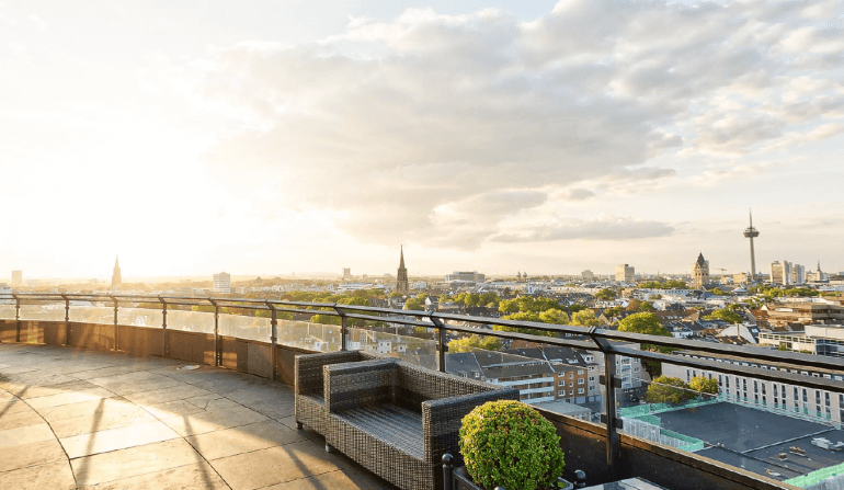 Big Smoke Köln 2019 Dachterrasse Hotel Wasserturm