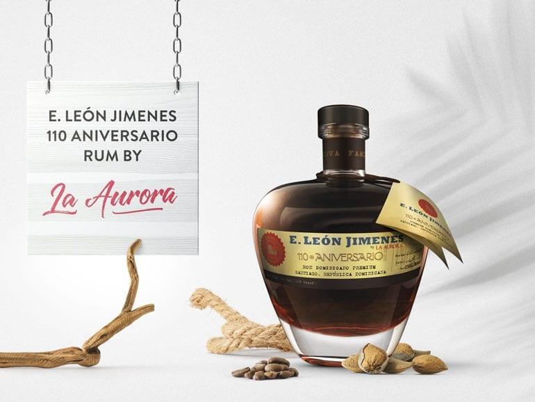 E. León Jimenesm 110 Aniverario Rum By La Aurora