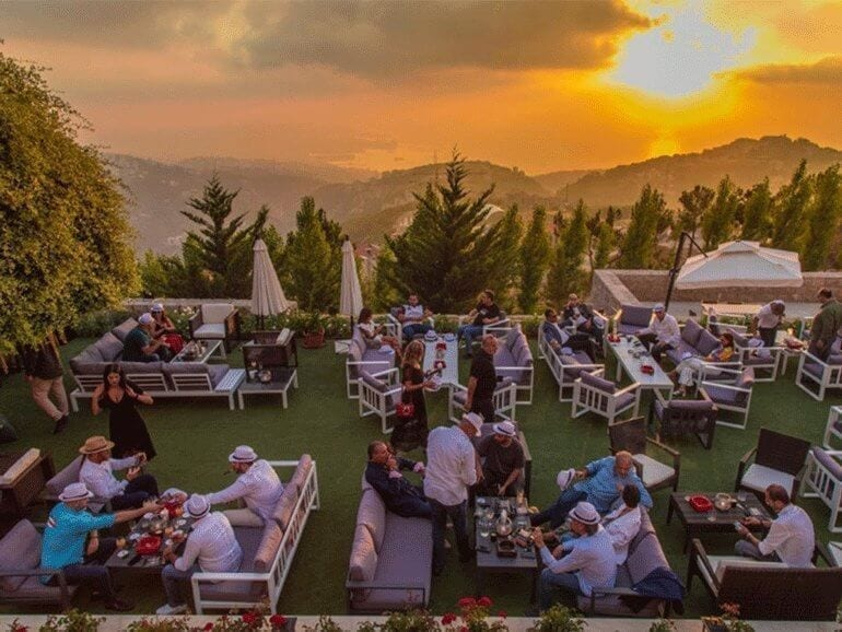 Sunset Ash event Beirut