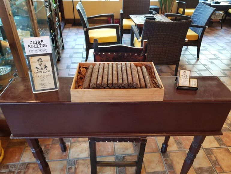 Cigar rolling is done on the premises